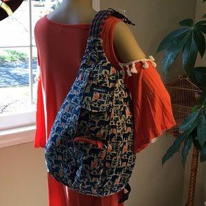 Wearing Kavu Rope Bag